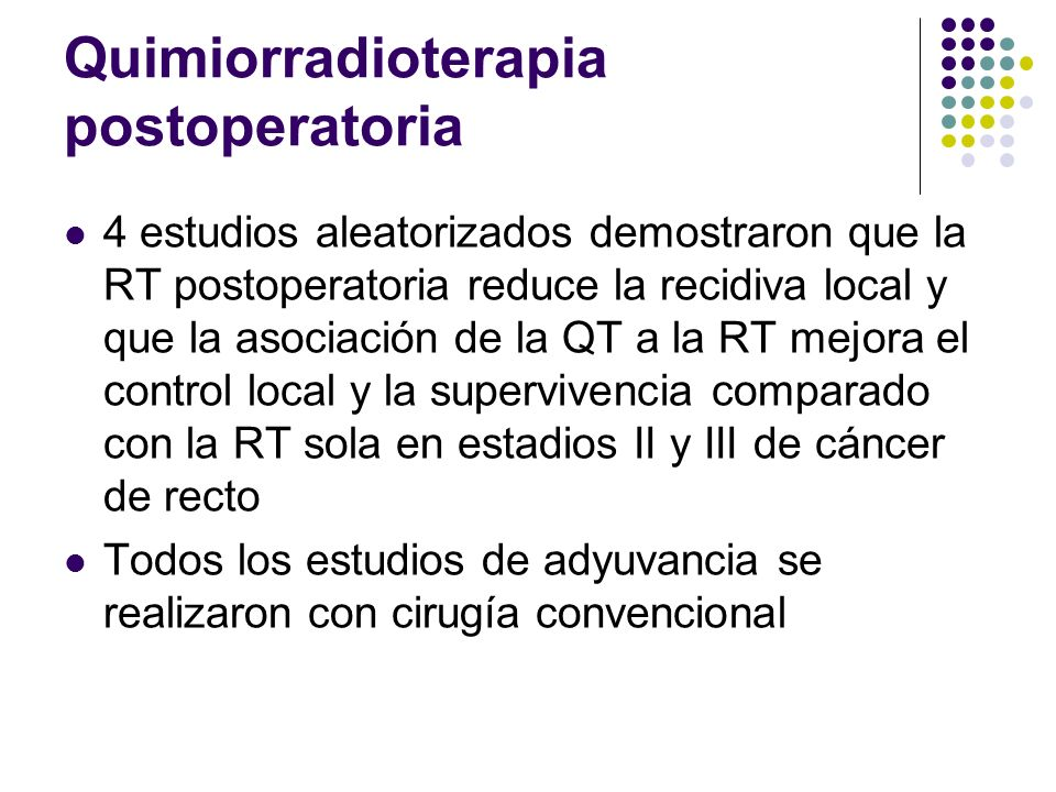 Quimiorradioterapia postoperatoria