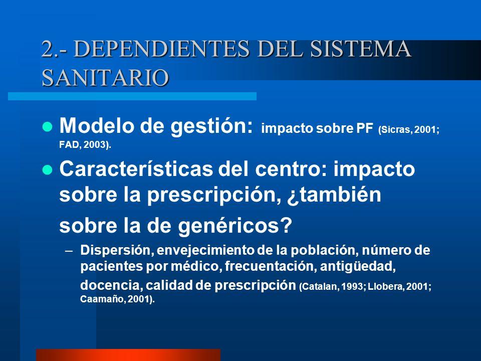2.- DEPENDIENTES DEL SISTEMA SANITARIO