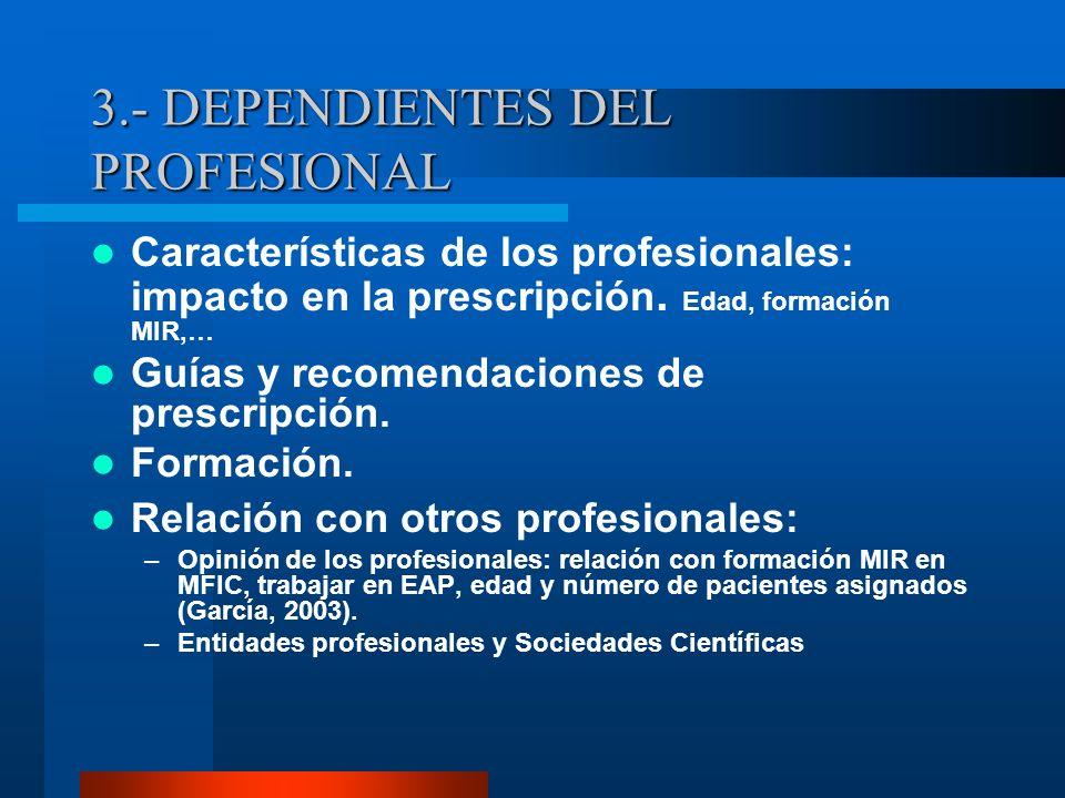 3.- DEPENDIENTES DEL PROFESIONAL