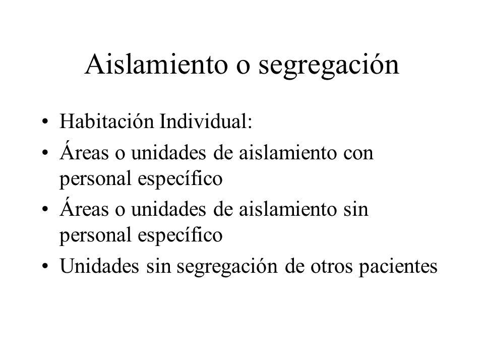 Aislamiento o segregación