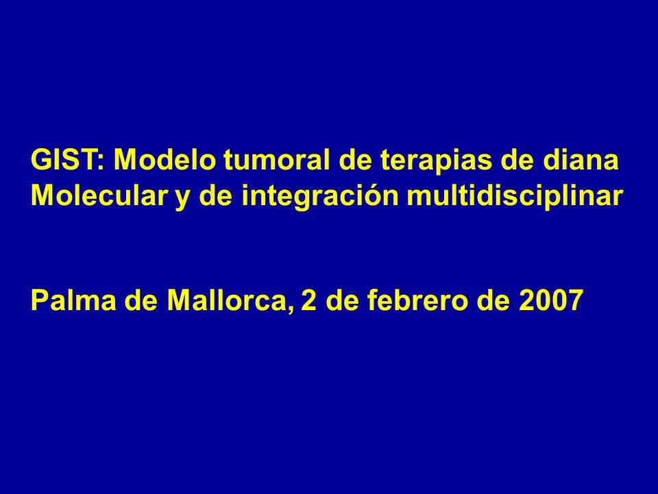 GIST: Modelo tumoral de terapias de diana