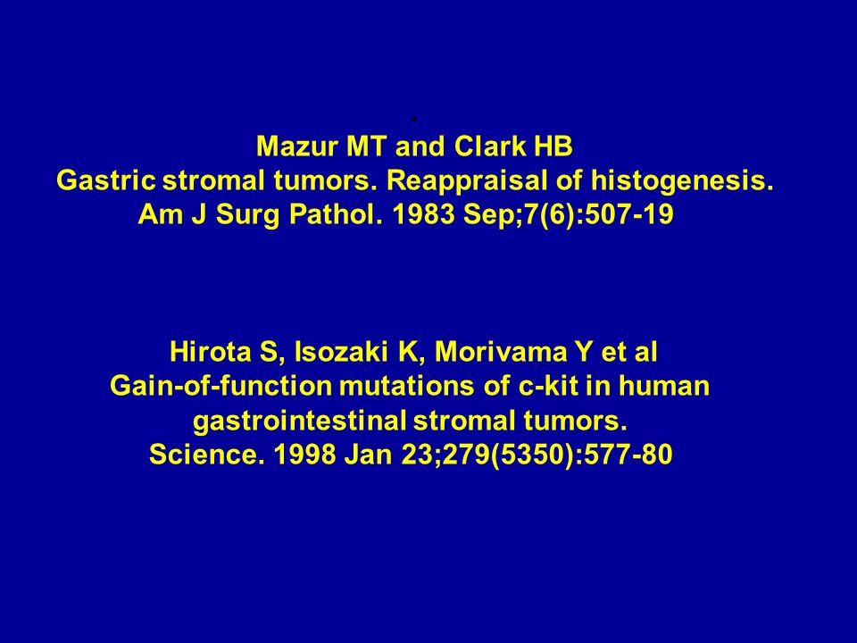 Gastric stromal tumors. Reappraisal of histogenesis.