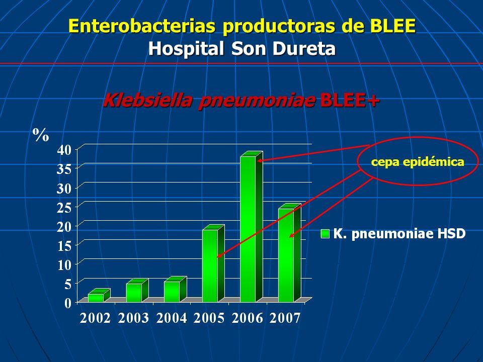 Enterobacterias productoras de BLEE Hospital Son Dureta