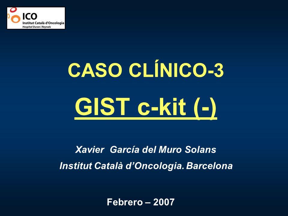Xavier García del Muro Solans Institut Català d'Oncologia. Barcelona