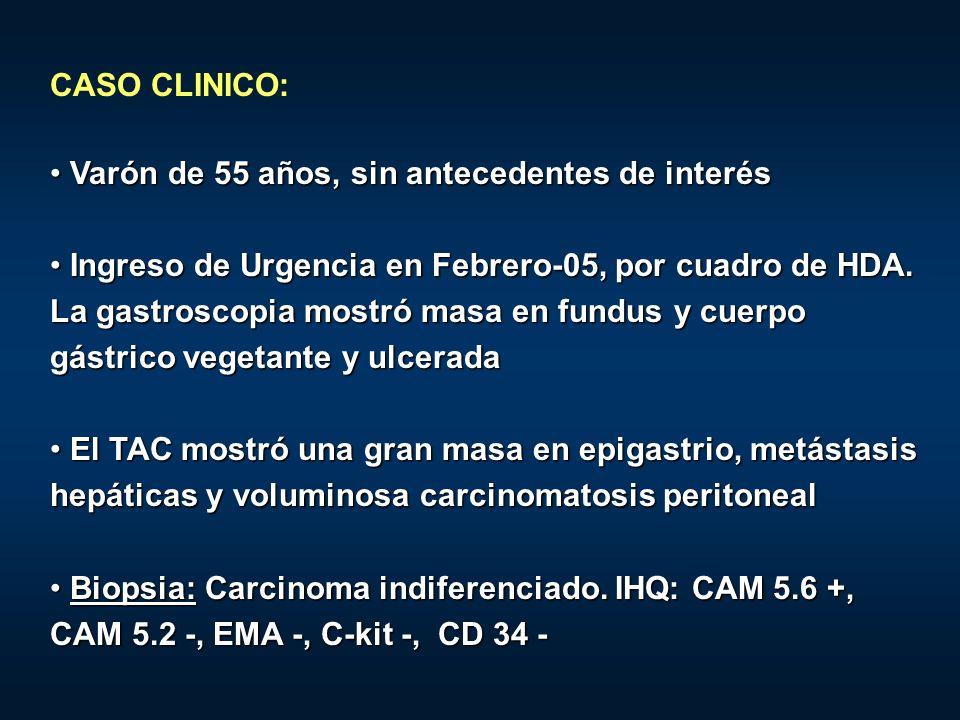 CASO CLINICO:Varón de 55 años, sin antecedentes de interés.