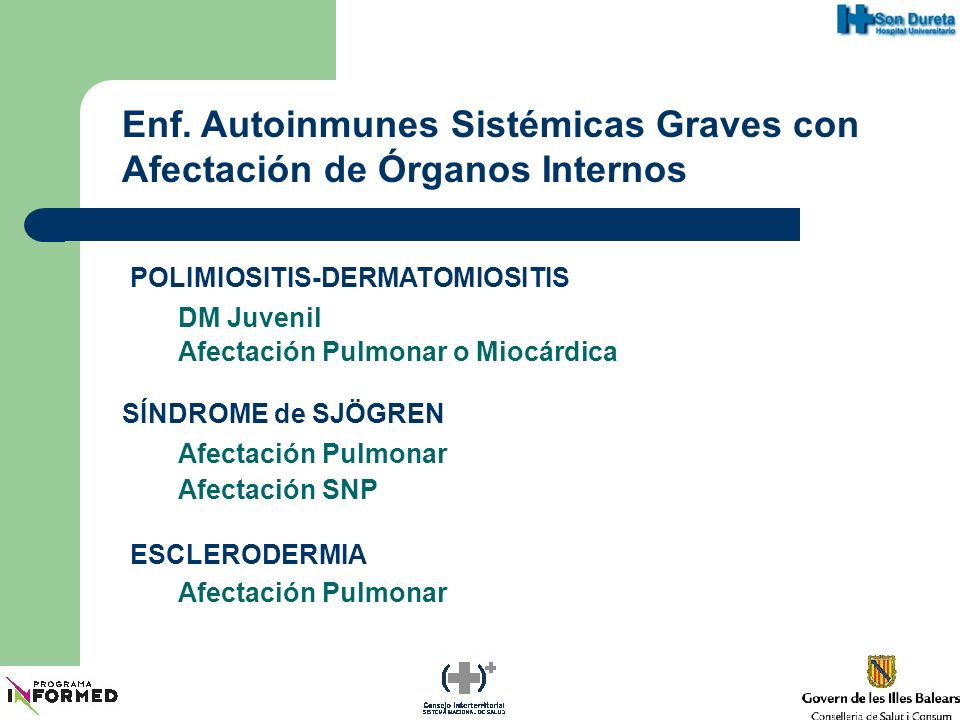 Enf. Autoinmunes Sistémicas Graves con Afectación de Órganos Internos