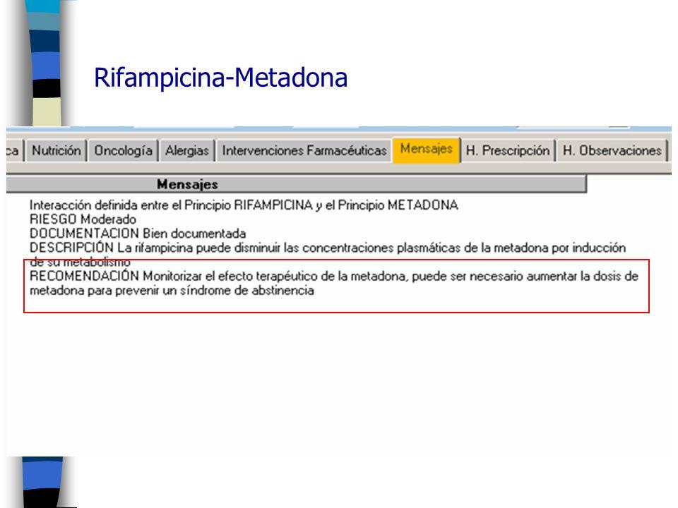 Rifampicina-Metadona