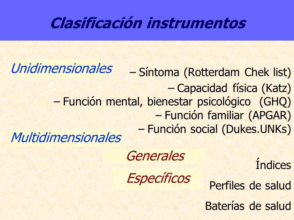 Clasificación instrumentos