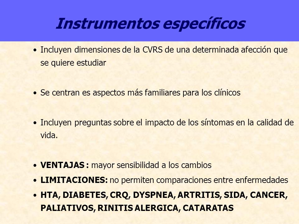Instrumentos específicos