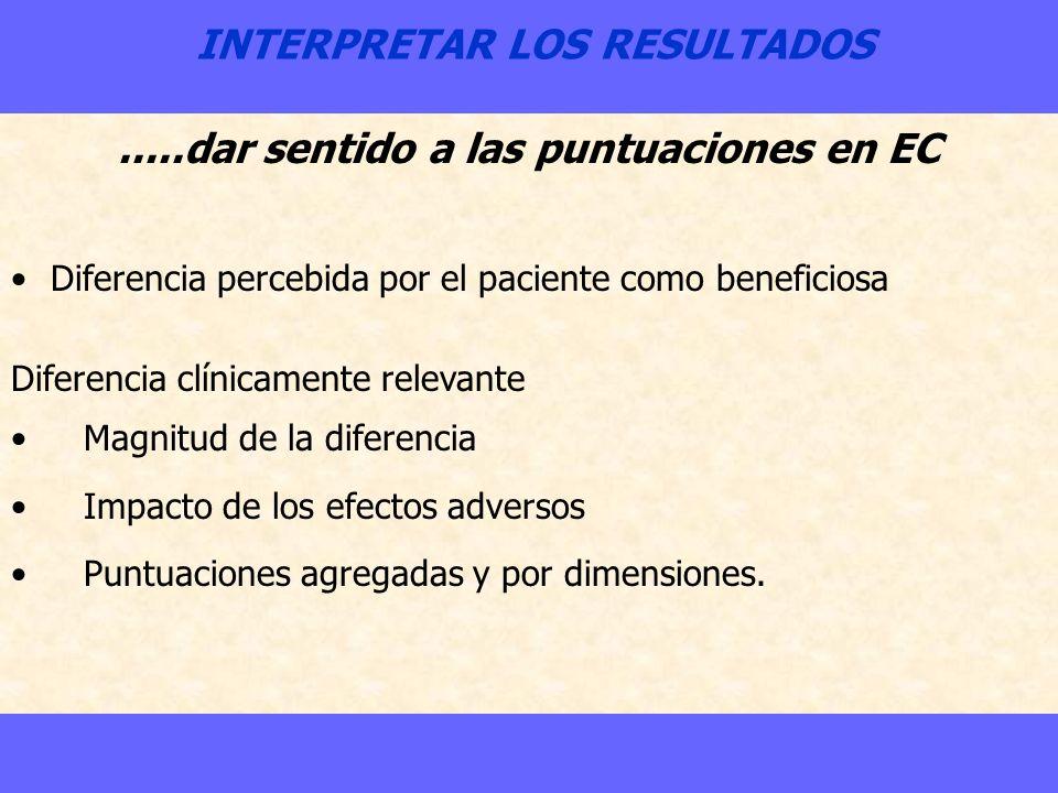INTERPRETAR LOS RESULTADOS