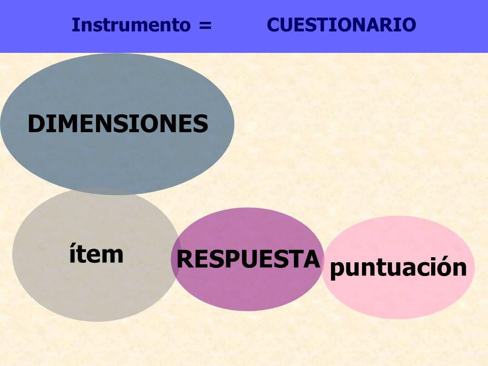 Instrumento = CUESTIONARIO