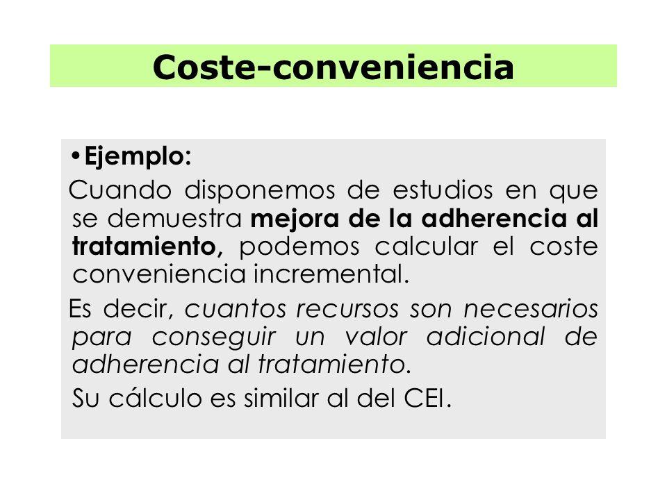 Coste-conveniencia Ejemplo: