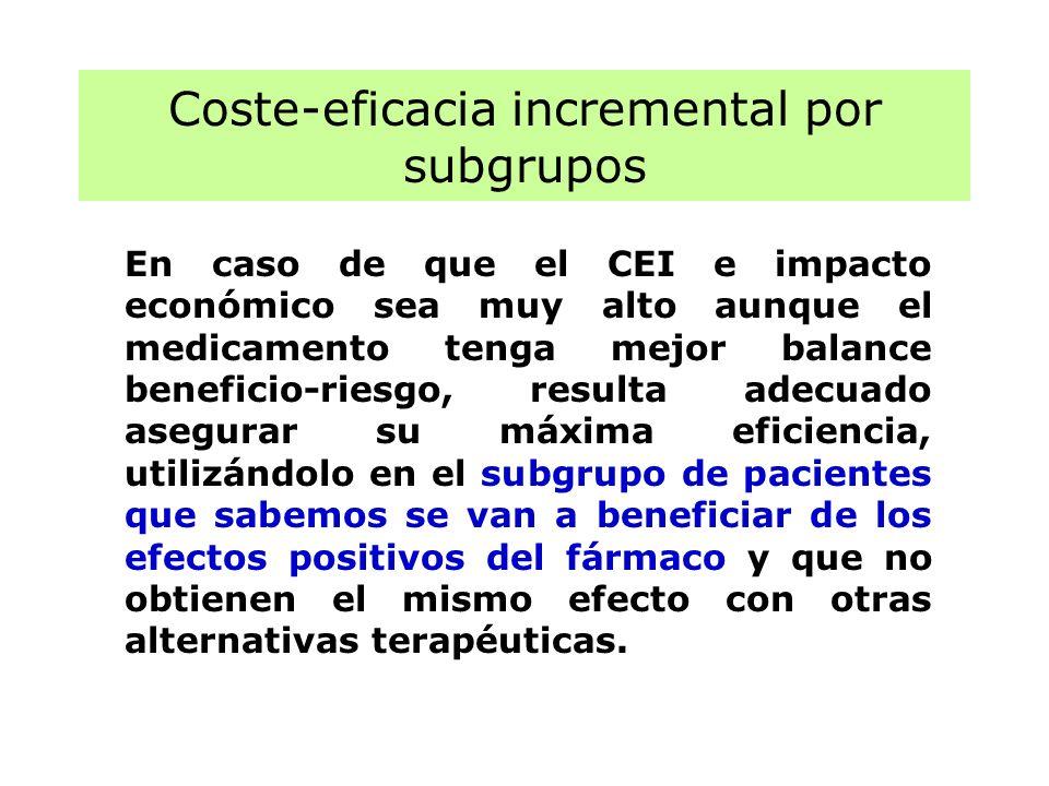 Coste-eficacia incremental por subgrupos