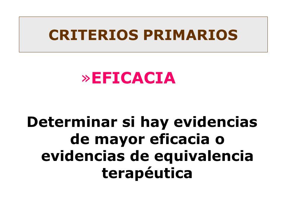 EFICACIA CRITERIOS PRIMARIOS