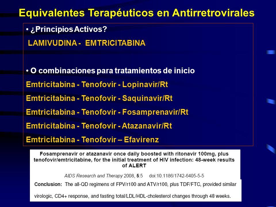 Equivalentes Terapéuticos en Antirretrovirales