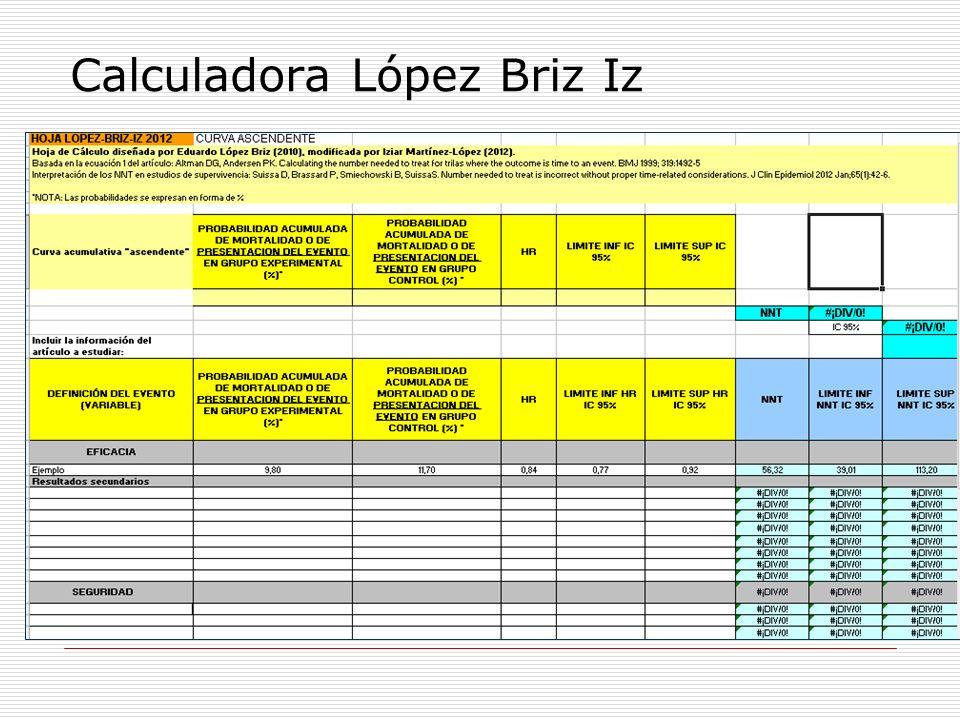Calculadora López Briz Iz