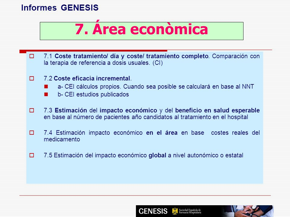 7. Área econòmica Informes GENESIS