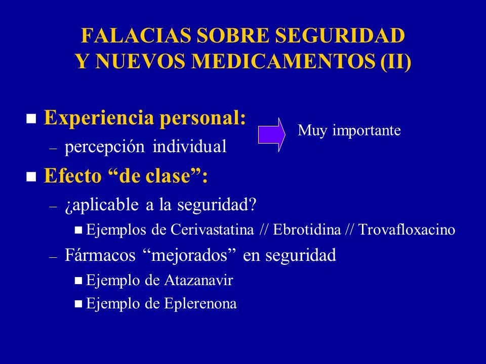 FALACIAS SOBRE SEGURIDAD Y NUEVOS MEDICAMENTOS (II)