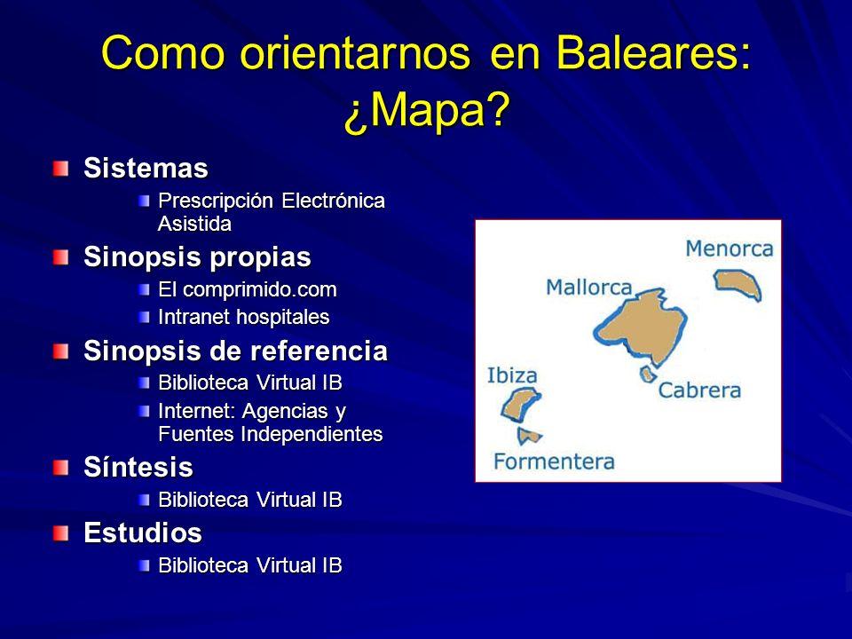 Como orientarnos en Baleares: ¿Mapa