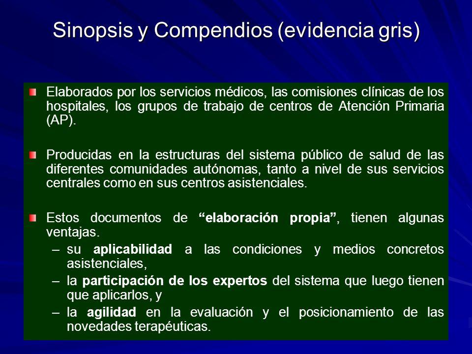 Sinopsis y Compendios (evidencia gris)