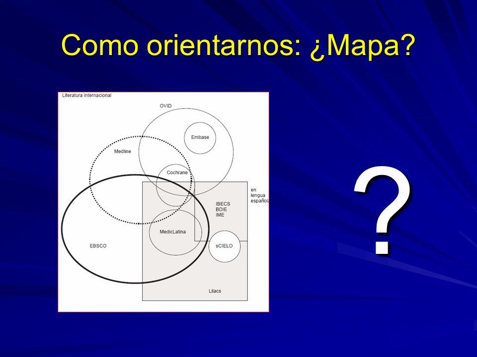 Como orientarnos: ¿Mapa