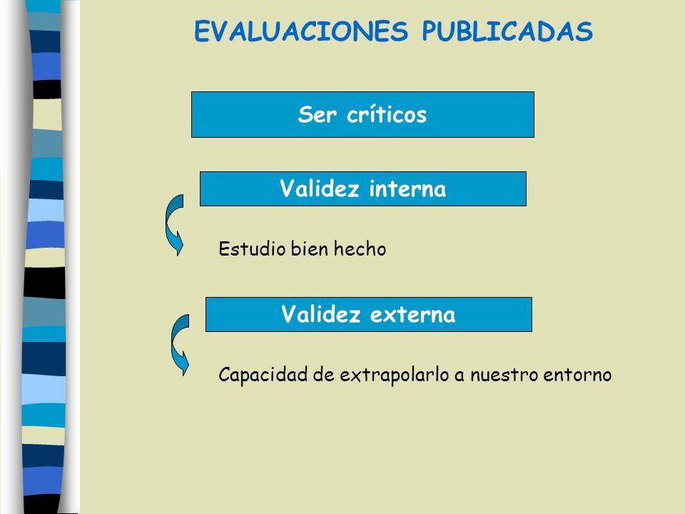 EVALUACIONES PUBLICADAS