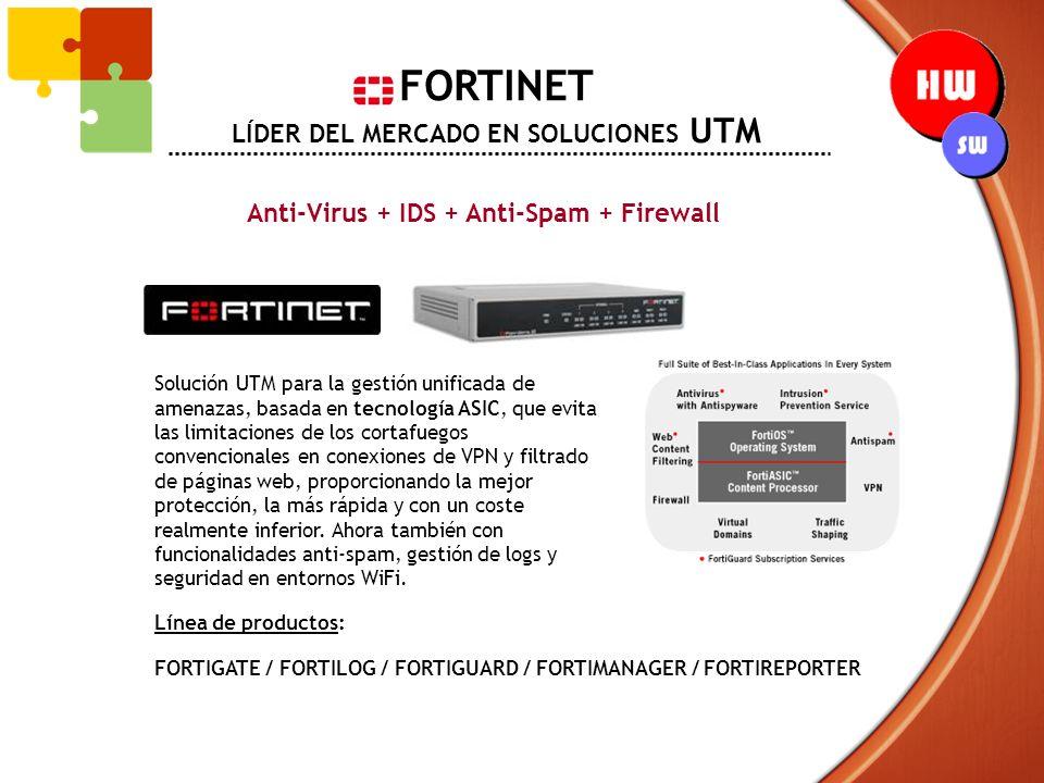 FORTINET LÍDER DEL MERCADO EN SOLUCIONES UTM