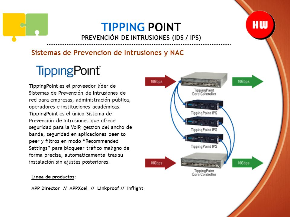 TIPPING POINT PREVENCIÓN DE INTRUSIONES (IDS / IPS)