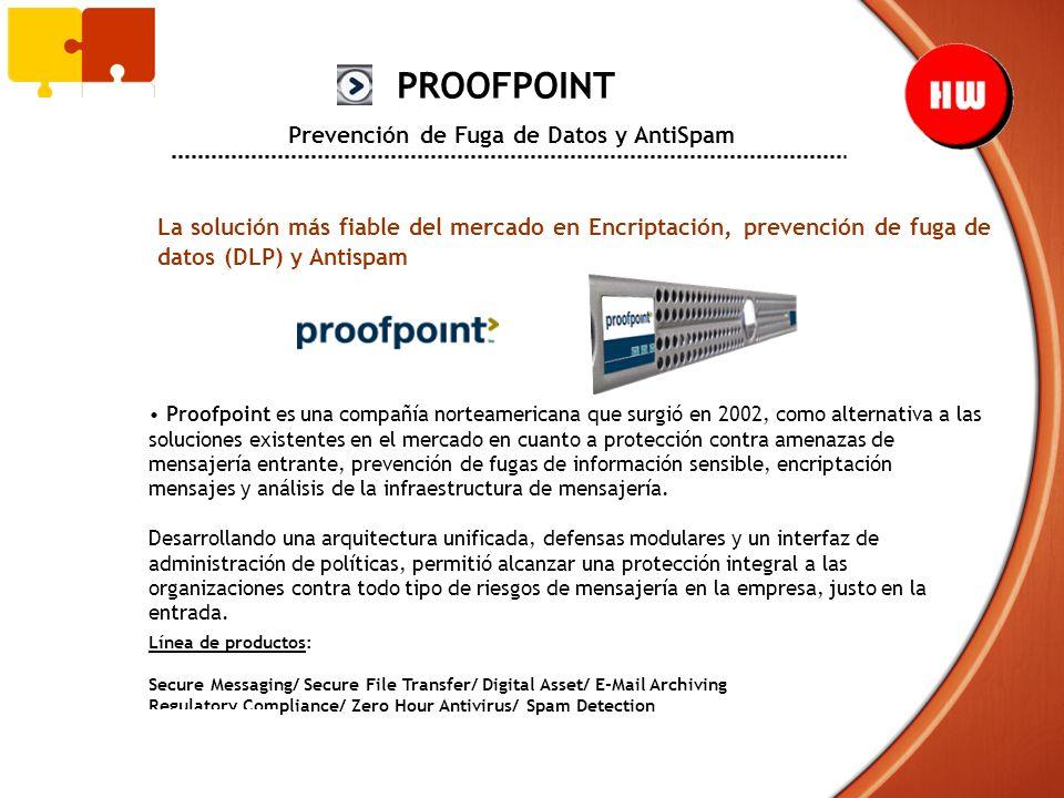 PROOFPOINT Prevención de Fuga de Datos y AntiSpam