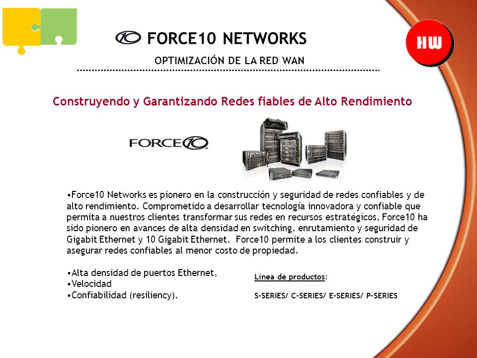 FORCE10 NETWORKS OPTIMIZACIÓN DE LA RED WAN