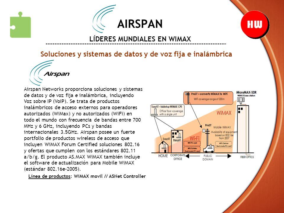 AIRSPAN LÍDERES MUNDIALES EN WIMAX