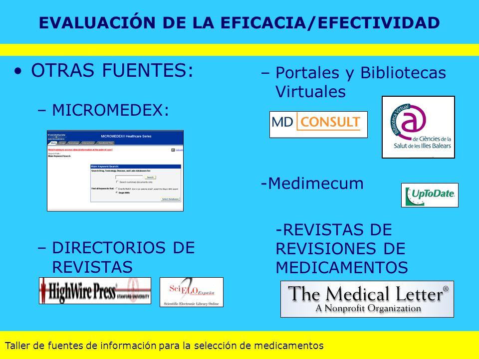 EVALUACIÓN DE LA EFICACIA/EFECTIVIDAD