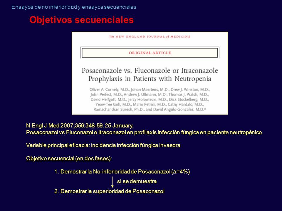Objetivos secuenciales