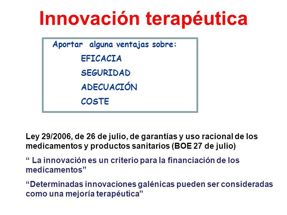 Innovación terapéutica