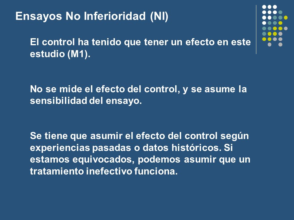 Ensayos No Inferioridad (NI)
