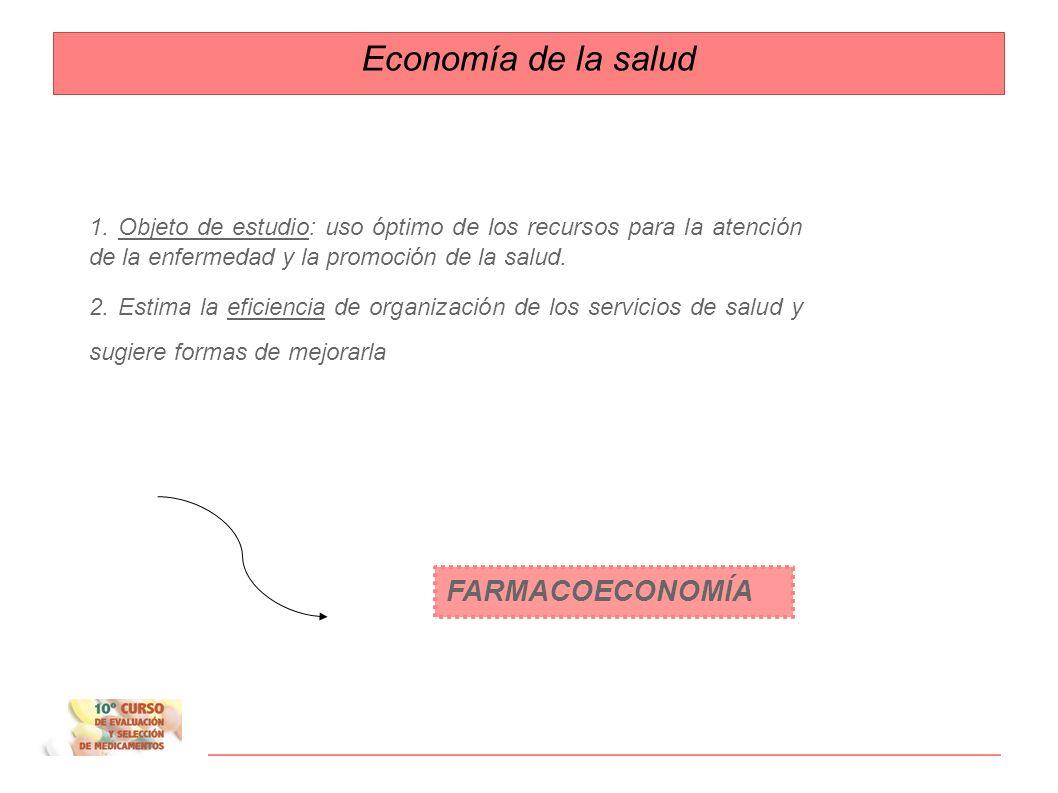 Economía de la salud FARMACOECONOMÍA