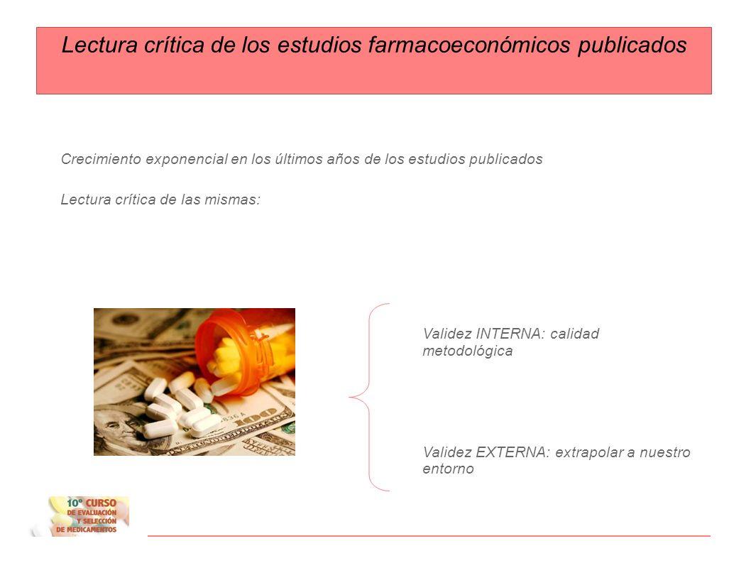 Lectura crítica de los estudios farmacoeconómicos publicados