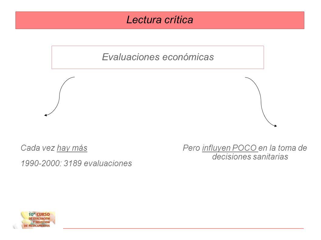 Lectura crítica Evaluaciones económicas Cada vez hay más