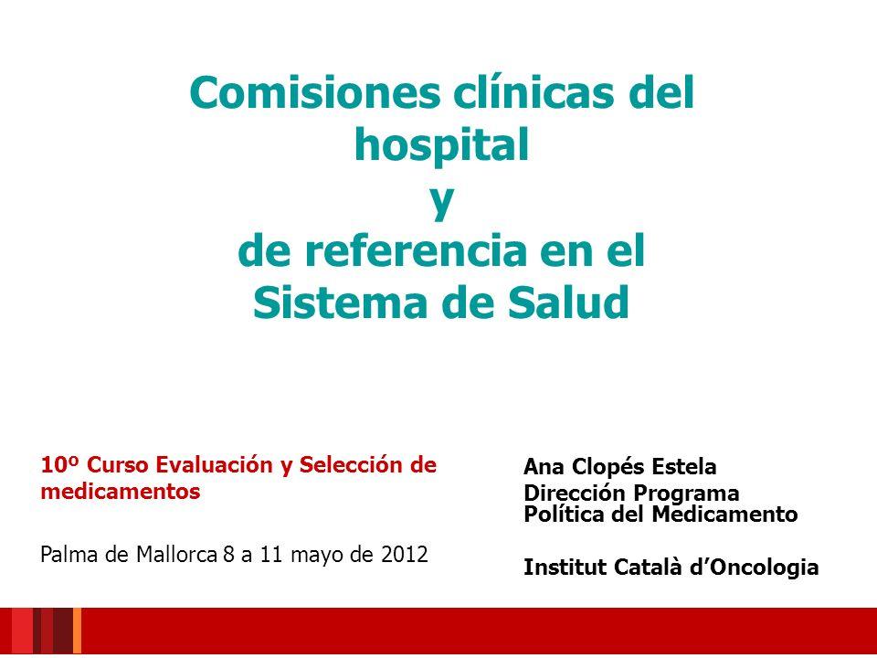 Comisiones clínicas del hospital