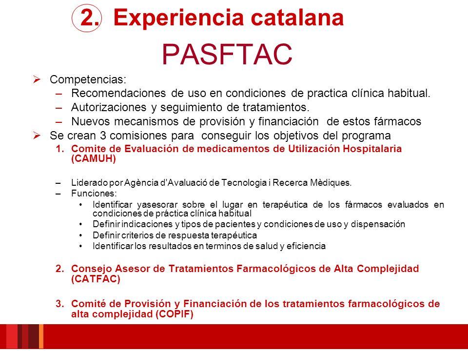 PASFTAC 2. Experiencia catalana Competencias:
