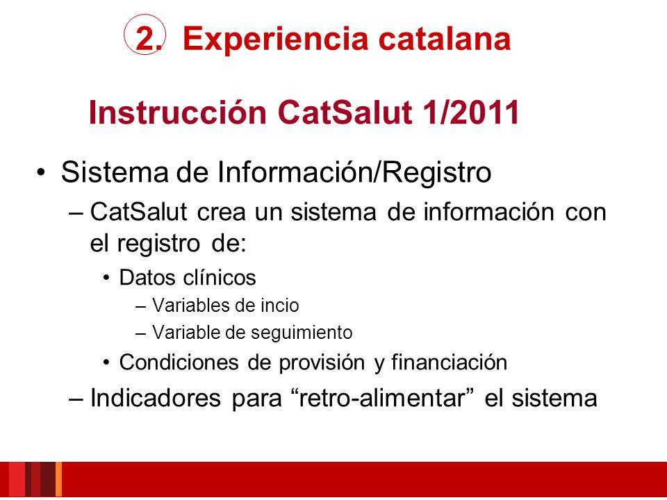 Instrucción CatSalut 1/2011