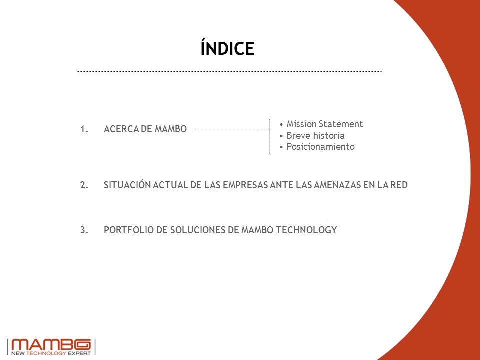 ÍNDICE Mission Statement Breve historia Posicionamiento