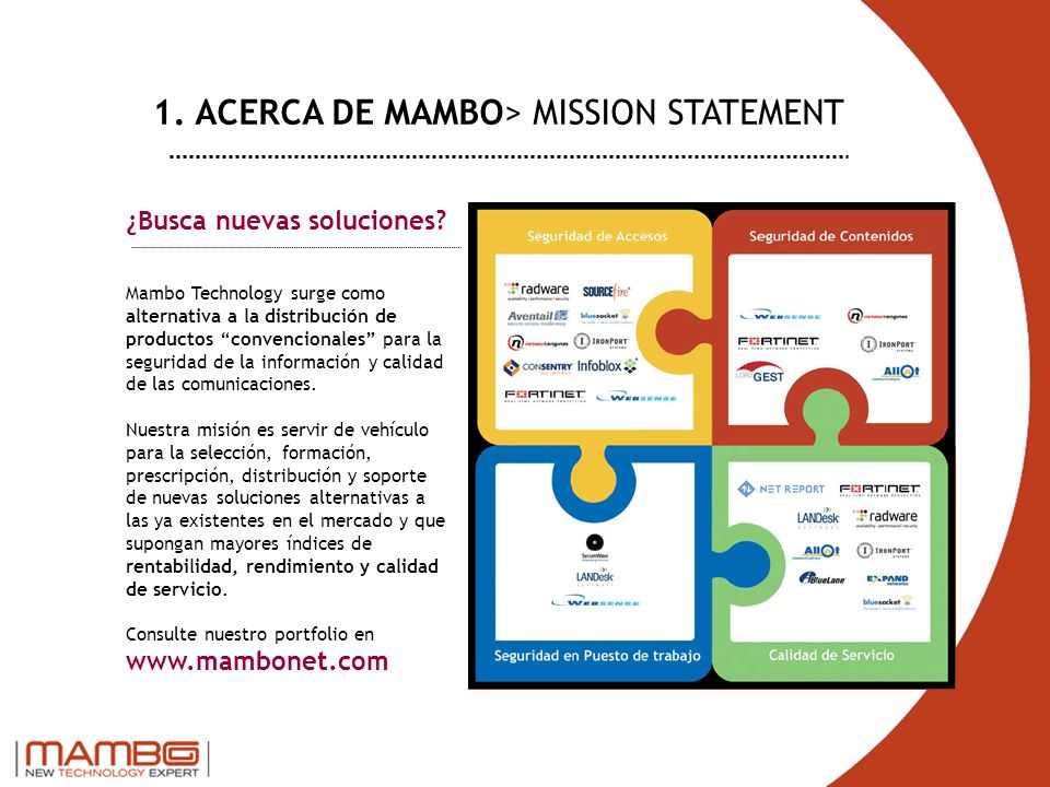 1. ACERCA DE MAMBO> MISSION STATEMENT