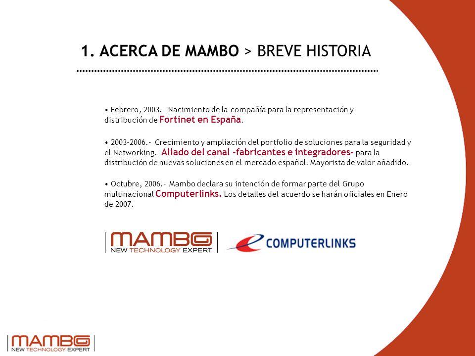 1. ACERCA DE MAMBO > BREVE HISTORIA