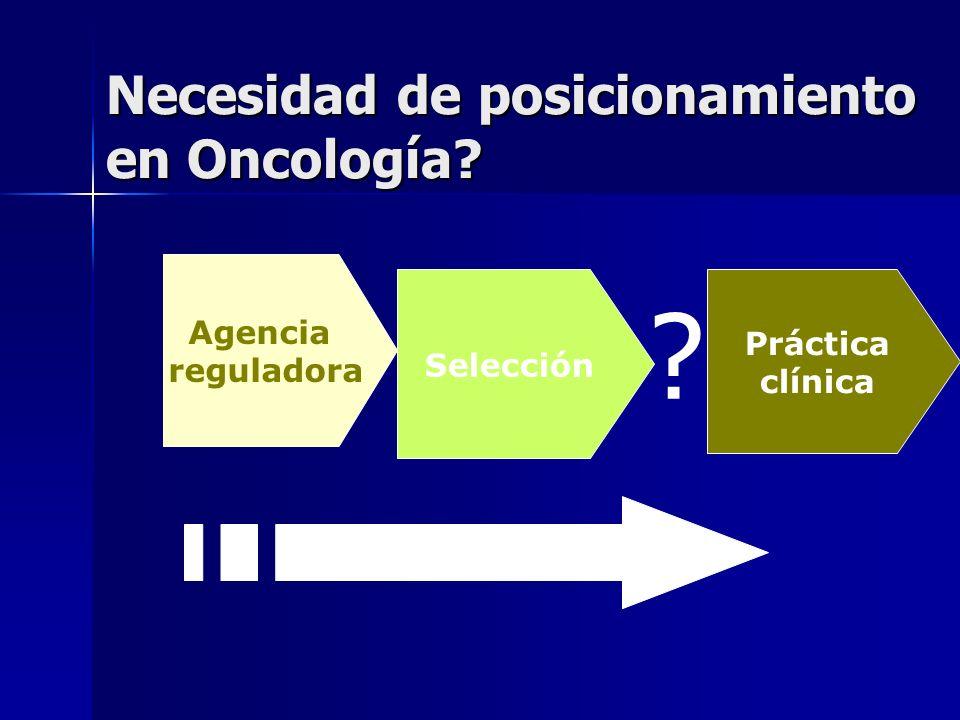 Necesidad de posicionamiento en Oncología