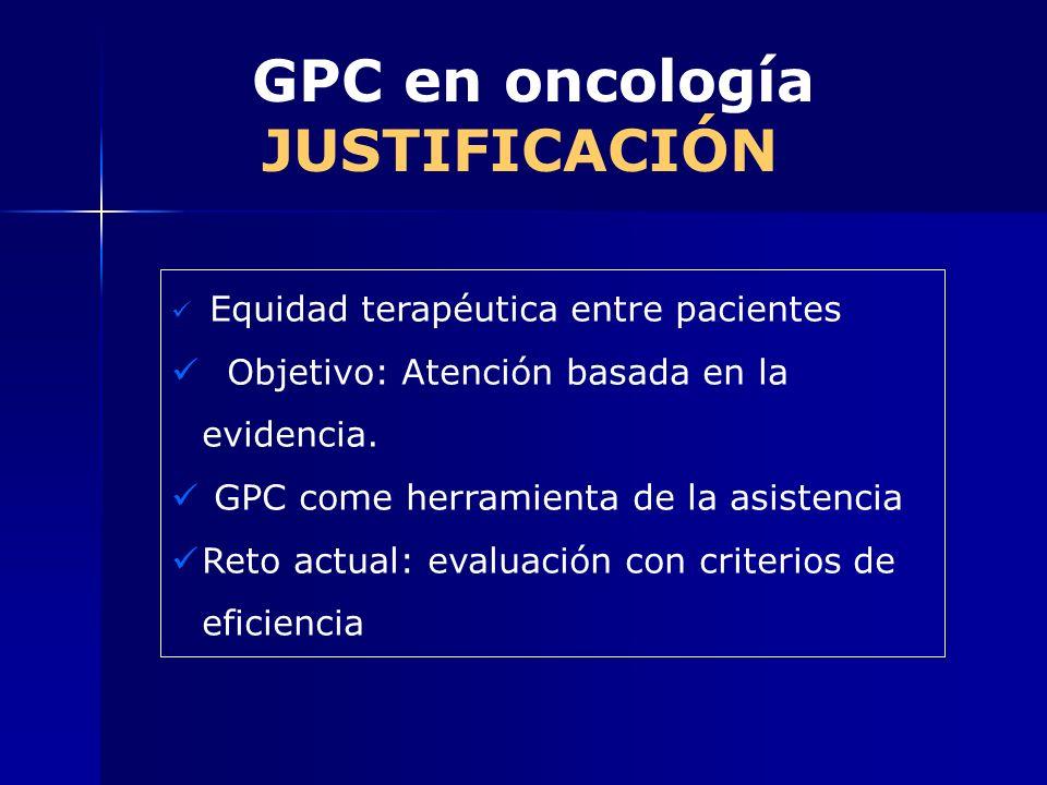 GPC en oncología JUSTIFICACIÓN