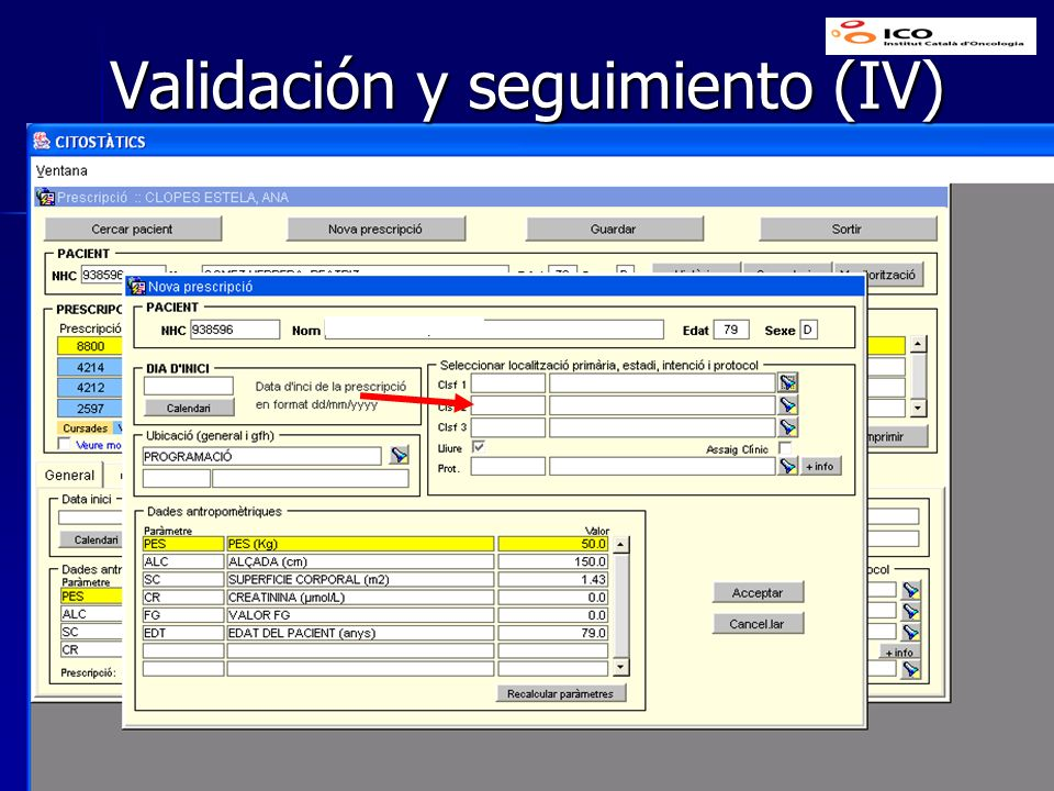Validación y seguimiento (IV)