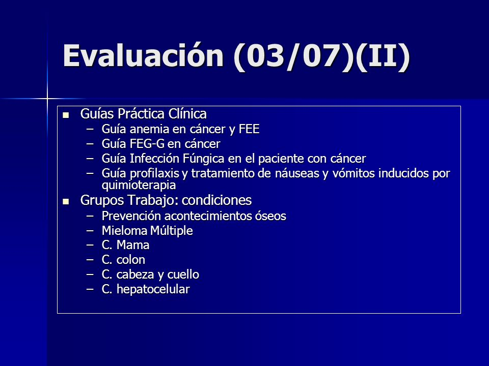 Evaluación (03/07)(II) Guías Práctica Clínica