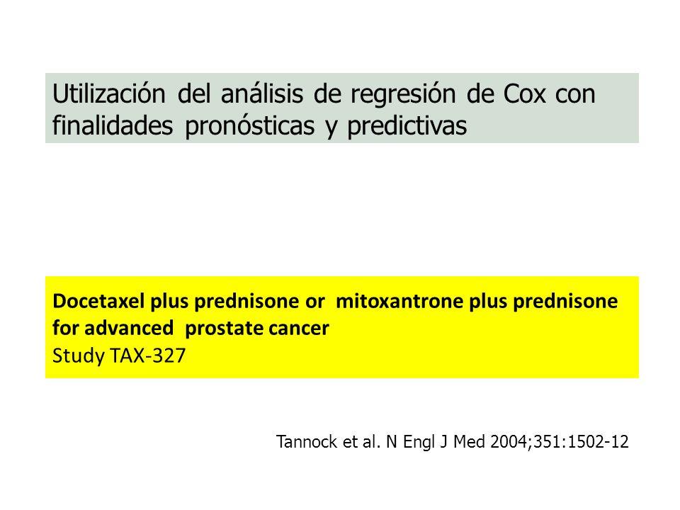 Utilización del análisis de regresión de Cox con finalidades pronósticas y predictivas