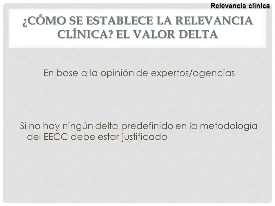 ¿Cómo se establece la relevancia clínica El valor delta